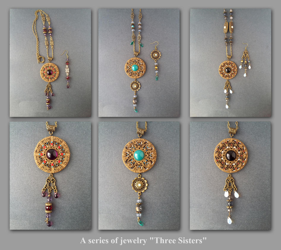 A series of jewelry Three Sisters by Comics-kinder