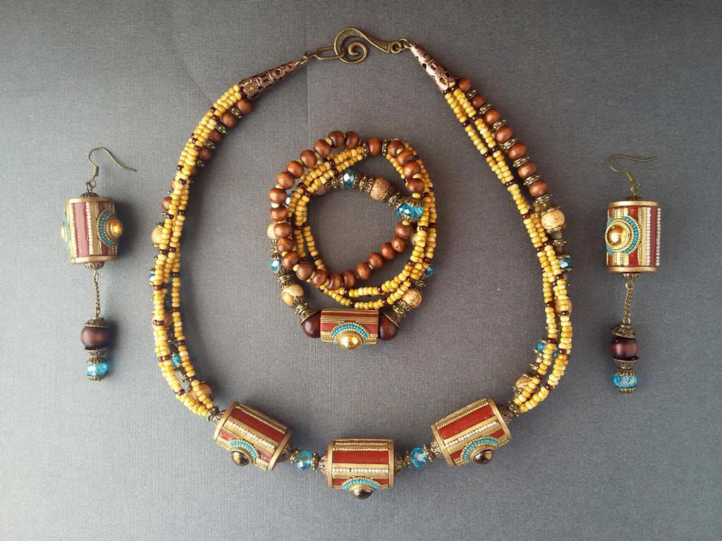 ethno jewelry set by Comics-kinder