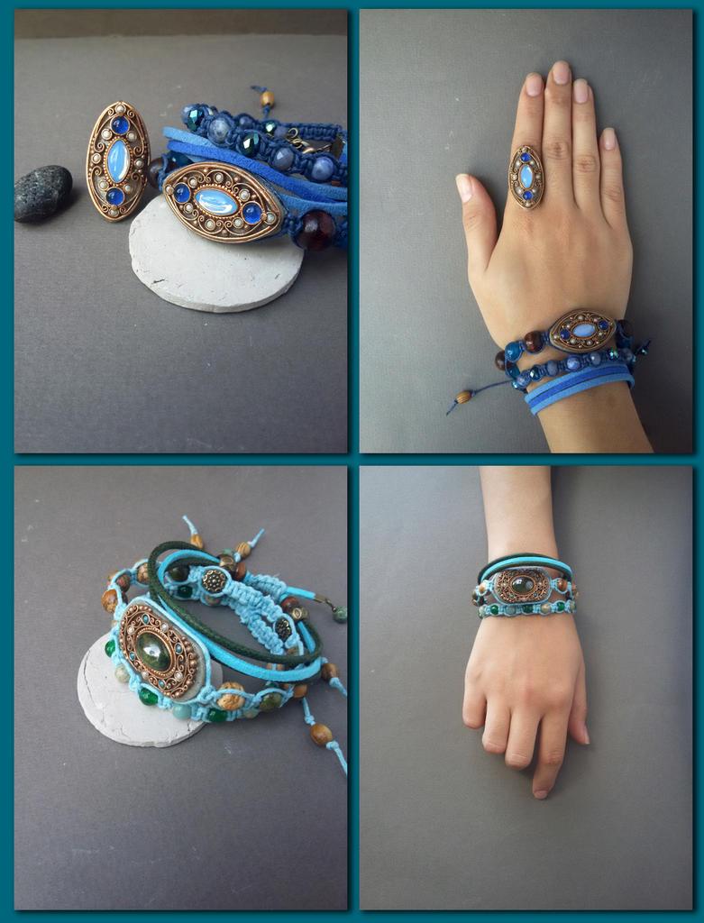 Shamballa bracelets by Comics-kinder
