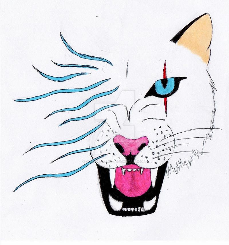 White Cheetah / Hear me roar by xgoldenfangx