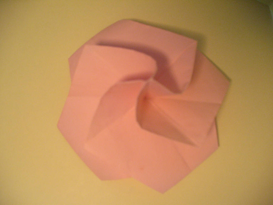 Easy Origami Twisty Rose Folding Instructions | 675x900