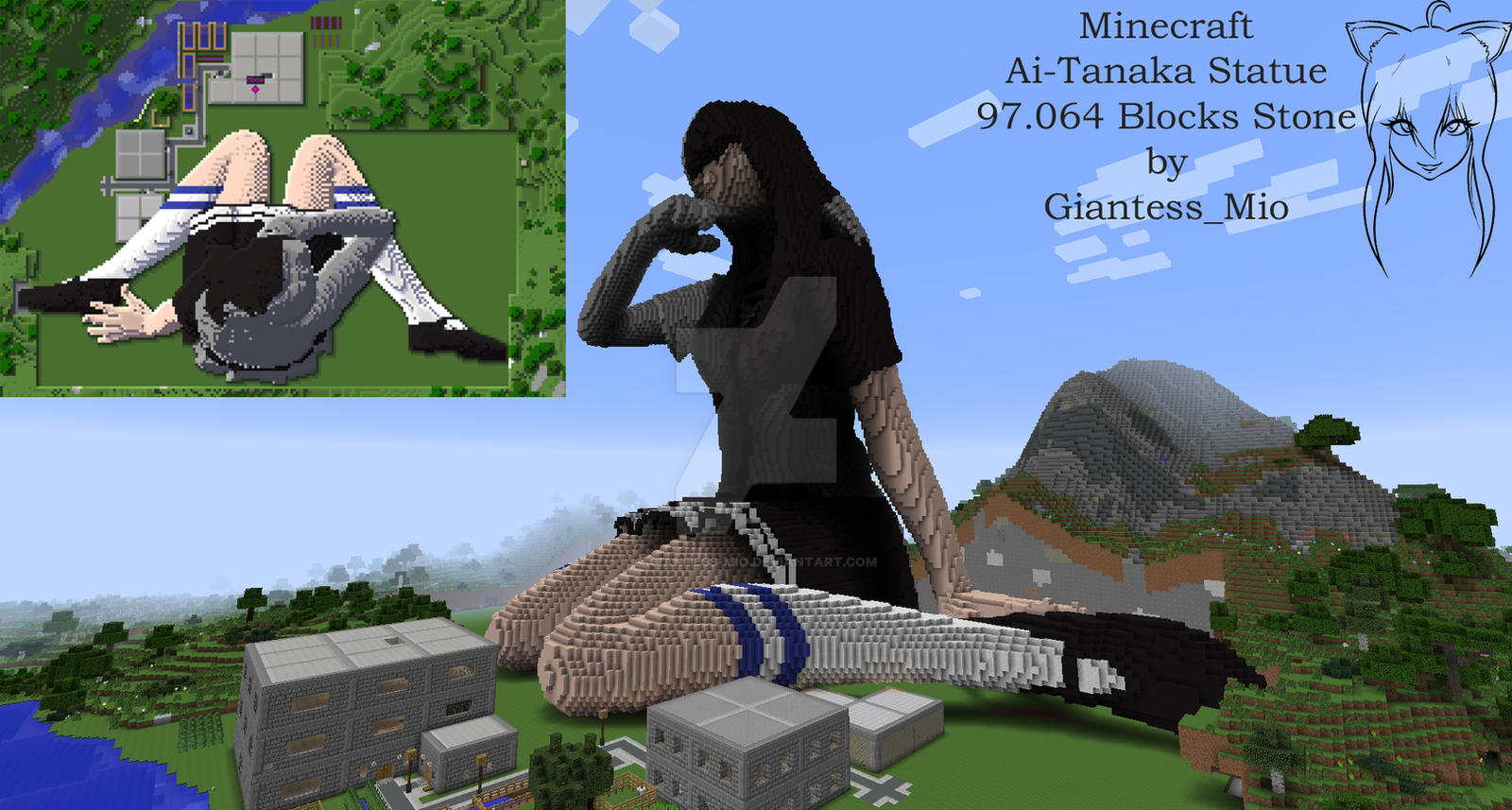 minecraft how to build a weeping angel statue