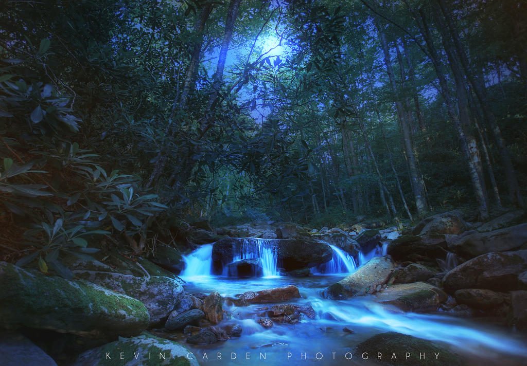 Moonlight Cascade by kevron2001