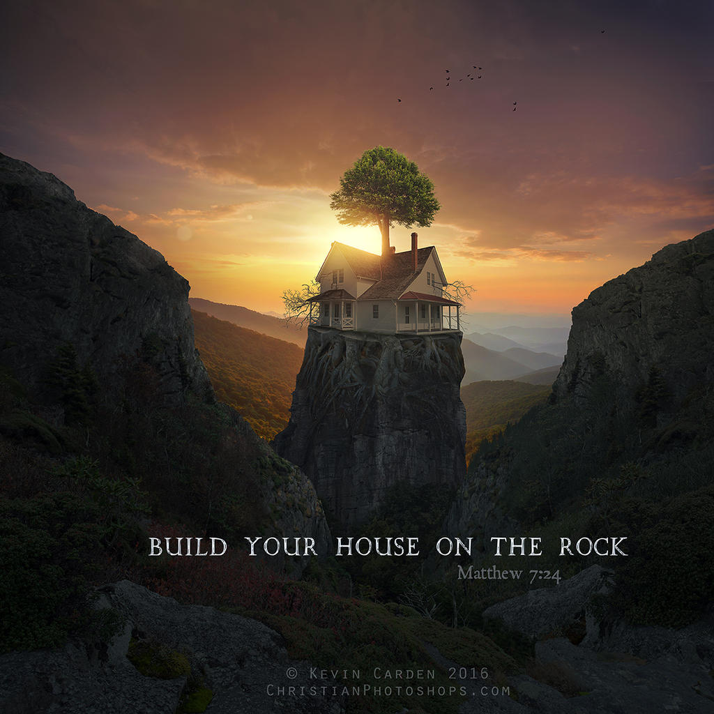 It's just a picture of Unforgettable building your house on the rock coloring