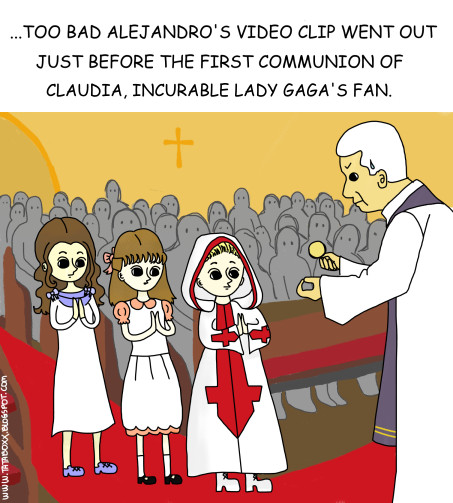 First Communion of Little Gaga by tataboxx