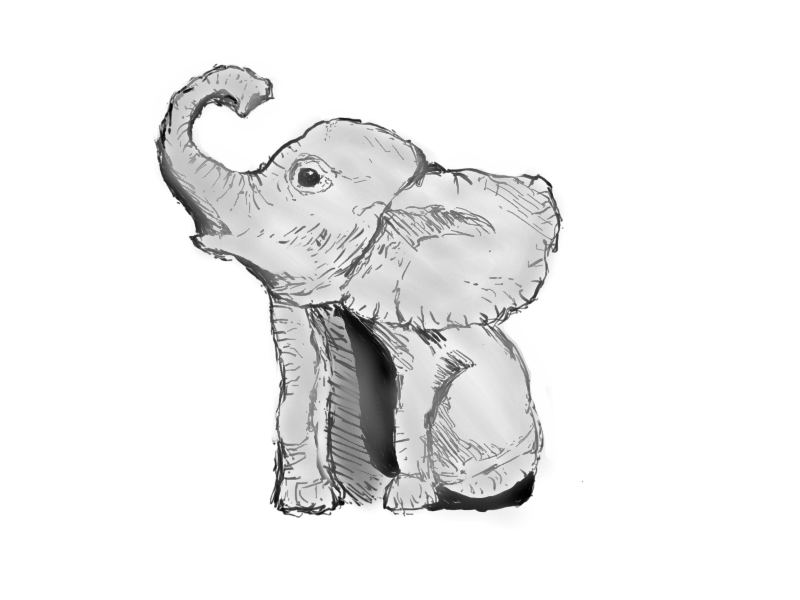 Second Tablet Drawing - Baby Elephant by CptJoe23 on ...