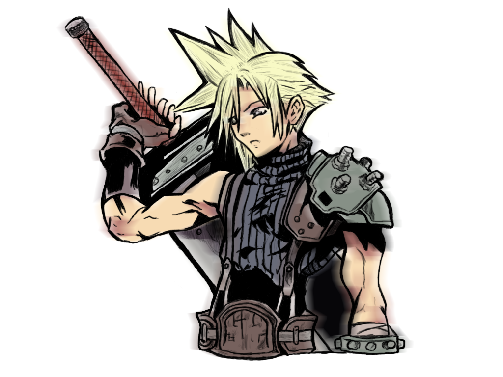 How to put on cloud strife costume
