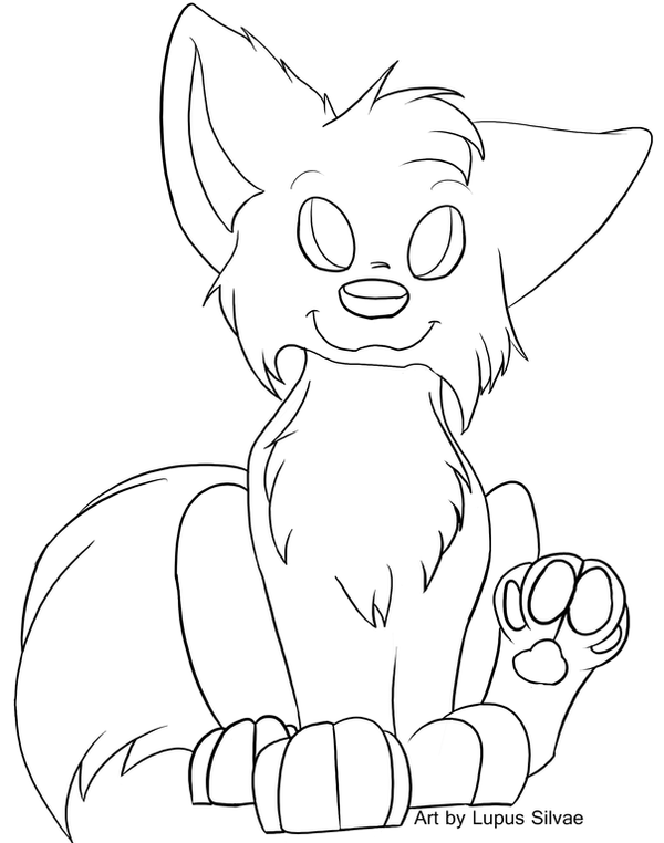 Free Chibi Wolf Lineart By Lupussilvae On Deviantart Chibi Wolf Coloring Pages
