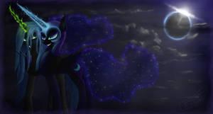 Nightmare Moon and Chrysalis