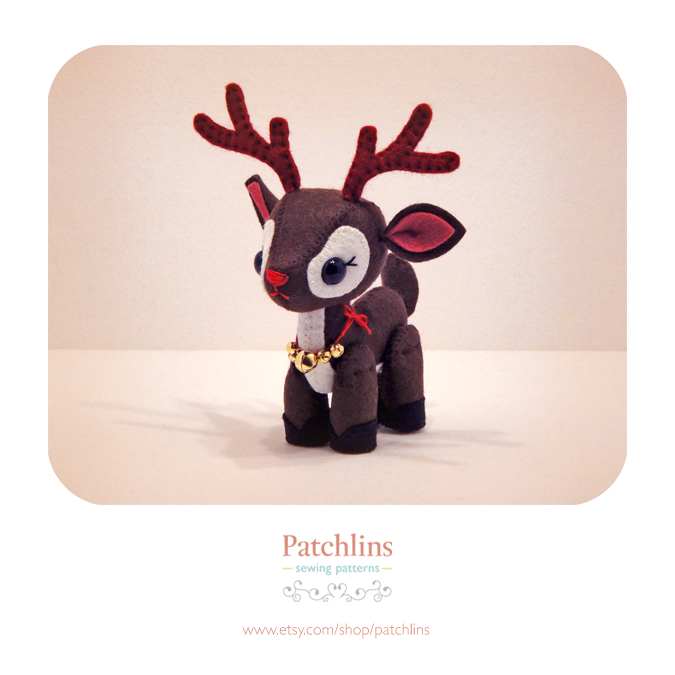 Reindeer PDF Pattern by Patchlins