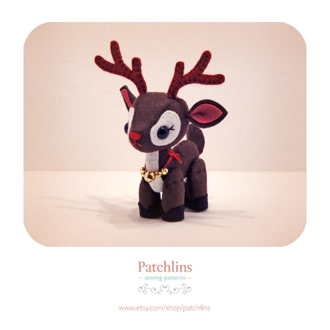 Reindeer PDF Pattern by Patchlins on DeviantArt