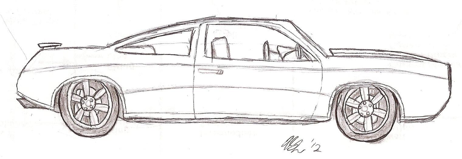 Stock Illustration Supercharged Cartoon Muscle Car Car Design