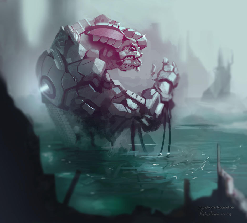 Poisonlake Mech speedpaint by MichaelLoos