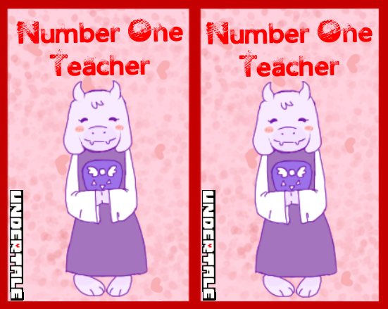 Undertale Valentines Cards Teacher Cards by StygianPhoenix on – Teacher Valentines Cards