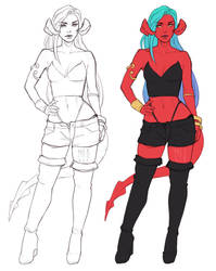 SKETCH style - full body example