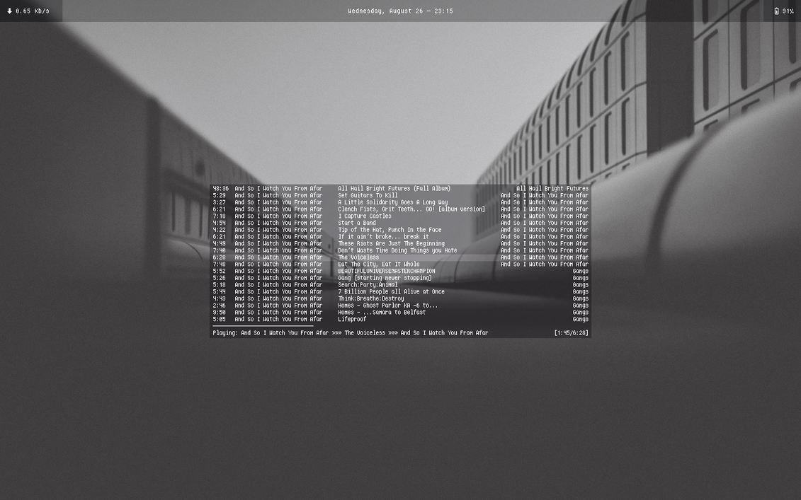 OSX and NCMPCPP by BrenoAMP