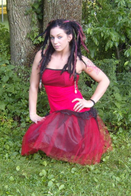 Fishnet fairy dress by funkyfunnybone