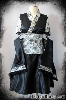 Elegant punk kimono set
