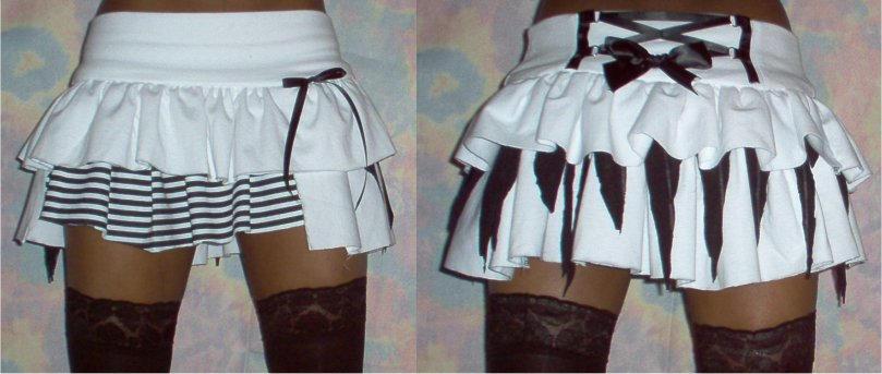 Rag-doll skirt by funkyfunnybone