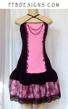 Pink spiderweb dress
