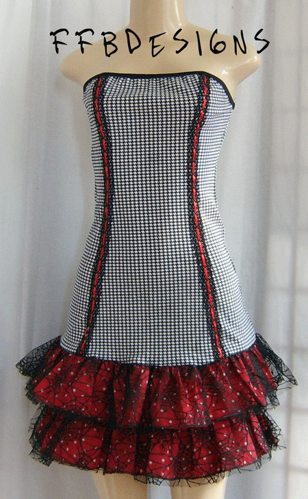 J-Fash* Houndstooth_dress_by_funkyfunnybone