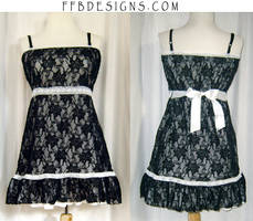 Black lace long top by funkyfunnybone