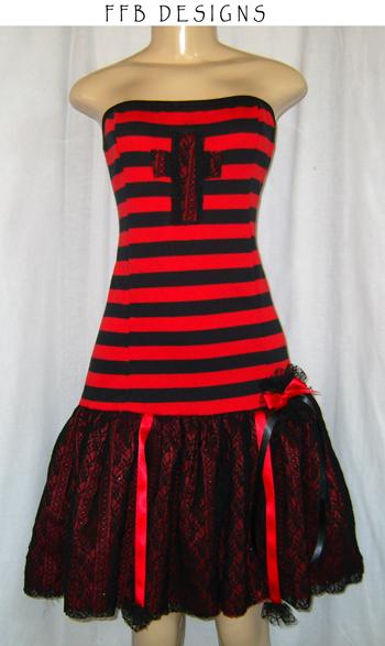 Striped winter dress by funkyfunnybone