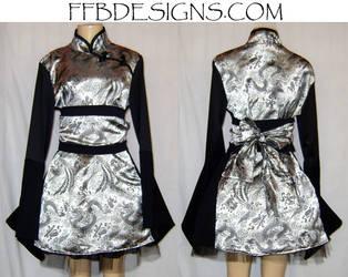 Dragon Kimono-Chinese dress by funkyfunnybone