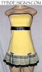 Yellow mini-dress by funkyfunnybone