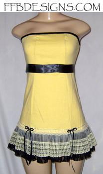 Yellow mini-dress