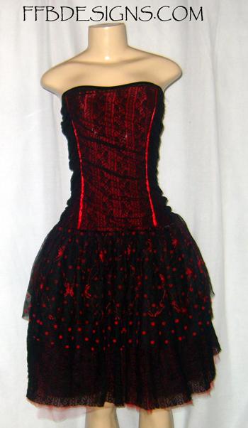 Black spider formal dress by funkyfunnybone