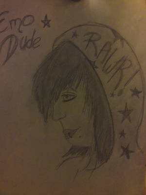 Emo Boy Drawing