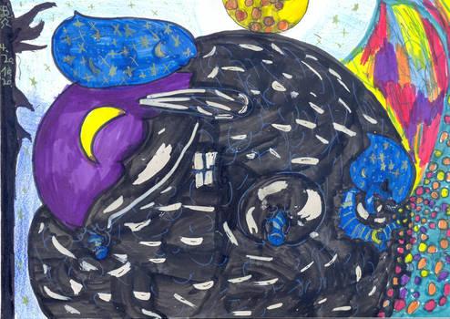 nightmare moon as a candy balloon