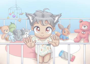 Grabby Hands In Crib (com)