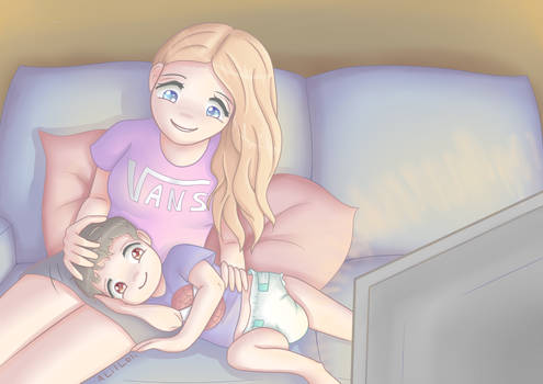 Cosy with mommy (com)