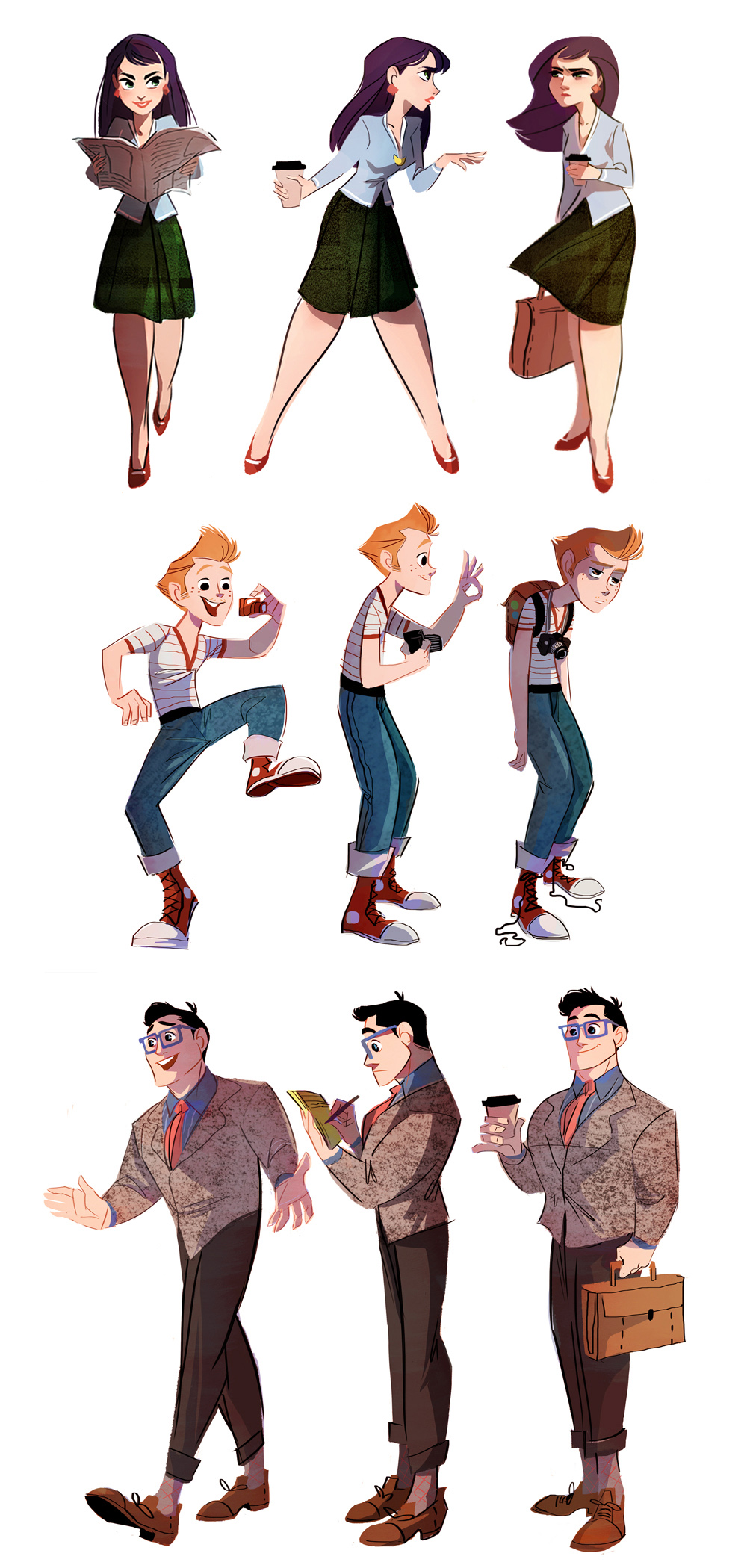 10 Character Design Tips : Lois jimmy and clark by the orange one on deviantart
