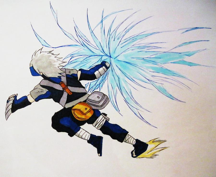 Kid Kakashi Chidori Drawing