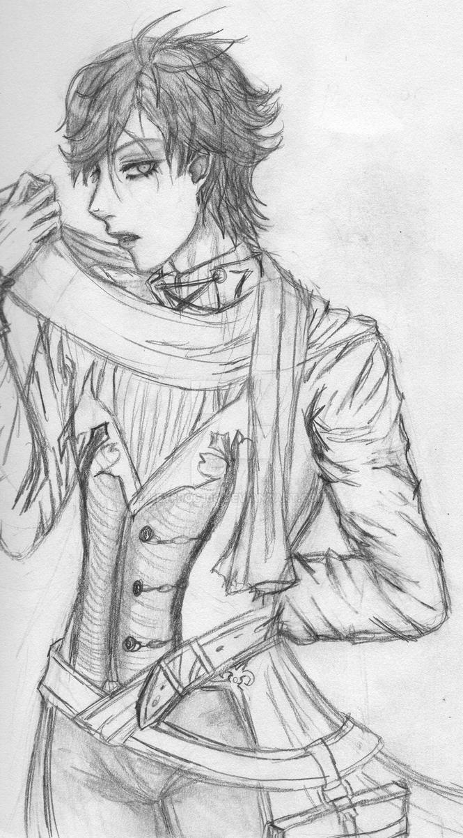 Malamor re-draw black and white by Heyfrog100