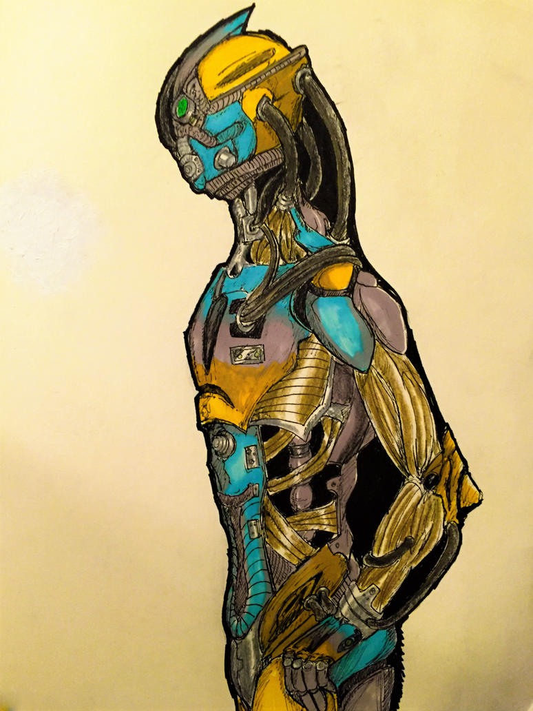 Bjorn the Cyborg Prototype by Heyfrog100