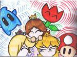 Daisy, Rosalina, Peach