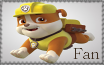 Rubble Fan - Paw Patrol Stamp by AquatheOhioKitty