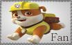Rubble Fan - Paw Patrol Stamp by AquatheOhioKitty