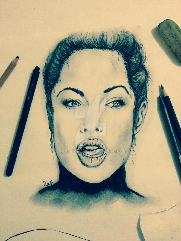 Angelina Jolie by miamiskizz