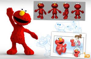 3D Elmo by Baron-Von-Jello
