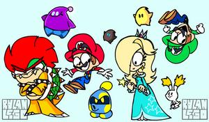 Mario Scenarios - Super Mario Galaxy Concept