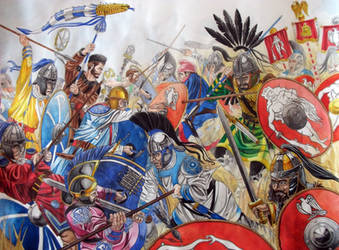 Battle of the Frigidus River by AMELIANVS