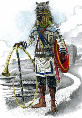 Black legionary Cornicen