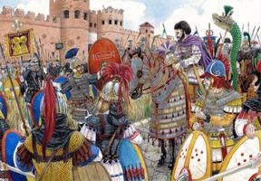 Belisarius under the walls of Rome by AMELIANVS