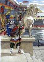 On the watch before Boukoleon palace by AMELIANVS