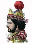 Portrait of Sassanid reenactor Nadeem Ahmad